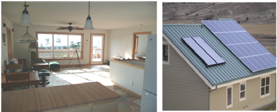 Mitchell, OR interior and solar panels