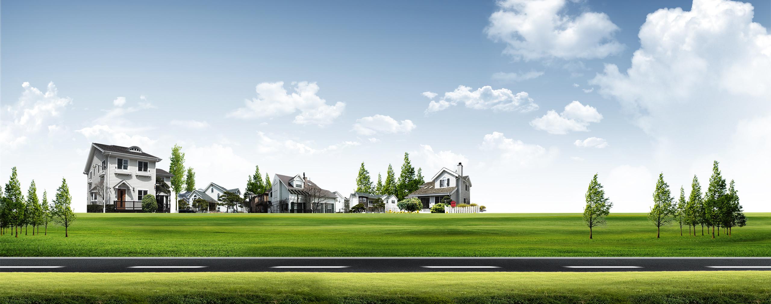 New house landscape. photo
